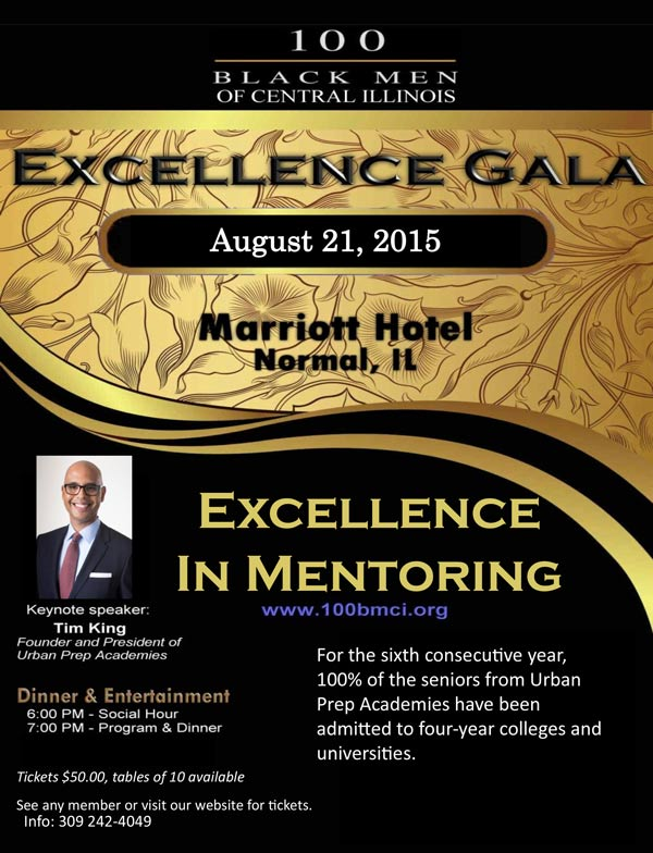 100 Black Men of Central Illinois 2015 Excellence Gala
